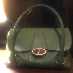 Vintage Green Gucci Hobo Handbag